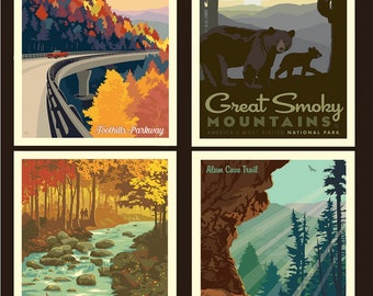 Great Smoky Mountains National Parks 1 Yard Panel
