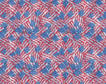 American Flag Fabric in various lengths