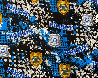 Police Fabric, Law Enforcement Fabric by the yard and other lengths