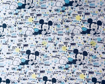 Disney Mickey Mouse Nursery Peekaboo Fabric by the yard and half yard and other various lengths