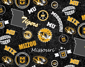 University of Missouri Toss fabric in various lengths