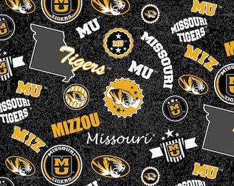 University of Missouri Toss fabric in various lengths