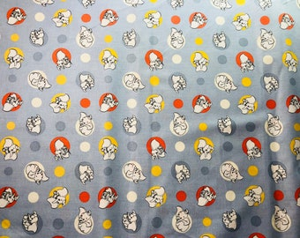 Disney Dumbo Polka Dots Fabric By The Yard and half yard and other various lengths