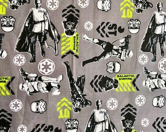 Star Wars Graphic Art Galactic Empire Fabric by the yard and half yard and other various lengths