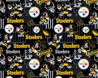 This Will Not Ship Until October 2020, Read Item Details On How To Order, Pittsburgh Steelers and Mickey Mouse fabric in various lengths