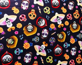 Disney Coco Fabric By The Yard and half yard and other various lengths