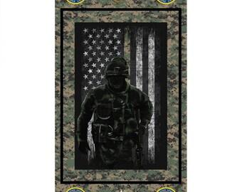 "US Marines Corps Fabric Panel 22""x44"""