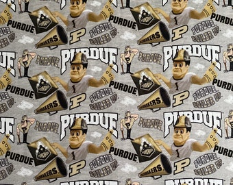 Purdue University Printed fabric by the yard and half yard and other various lengths