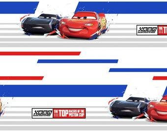 Disney Pixar Cars Top Racers of Piston Cup Fabric in various lengths