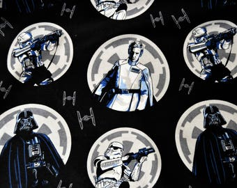 Star Wars Rouge One Imperial Circles Flannel Featuring Darth Vader, Orson Krennic and Storm Troopers by various lengths