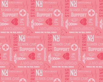 NOW IN STOCK! First Responders Nurse Pink Fabric in various lengths