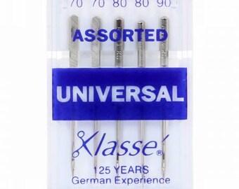 Klasse Universal Machine Needle Regular Assortment Sizes 10-12-14