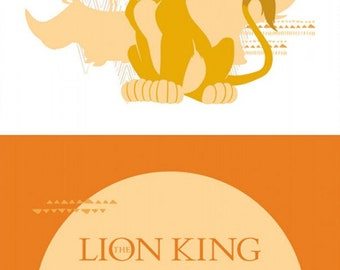 Disney The Lion King Orange Half Panel 18in x 44in