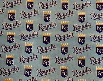 """Kansas City Royals Fabric, KC Royals Fabric, MLB Fabric in various lengths by 59"""" width"""