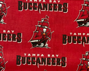 """Tampa Bay Buccaneers Fabric, Tampa Buccaneers Fabric, Buccaneers Fabric, NFL Fabric in various lengths by 59"""" width"""