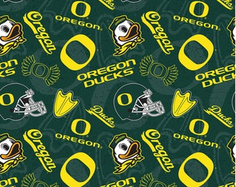 Oregon Ducks Green Fabric Cotton Fabric in various lengths