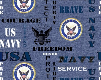 US Navy Blue Fabric by the yard and other lengths