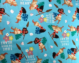 Disney's Moana fabric By The Yard and half yard and other various lengths