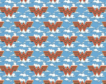 This Will Not Ship Until August 2020, Read Item Description On How To Order, Wonder Woman 1984 In The Clouds Fabric by various lengths
