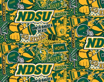 North Dakota State University Cheer Fabric in various lengths