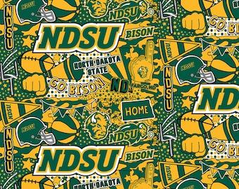 North Dakota State University Cheer Fabric in various lengths