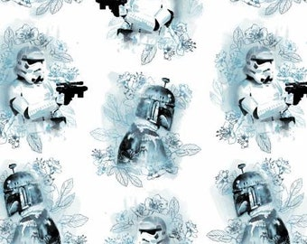 Star Wars Watercolor Villains Fabric by the yard and half yard and other various lengths