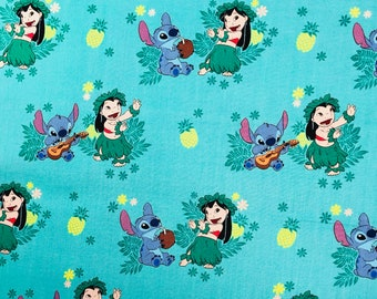 Disney Lilo and Stitch Fabric by the yard and half yard and other various lengths