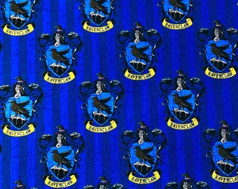 Harry Potter Fabric, Ravenclaw Digital Print Fabric, 100% Quilting Cotton, Camelot Fabrics, By the yard and other various lengths