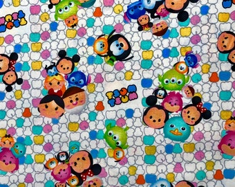 Disney Tsum Tsum Fabric by the Yard and half yard and other various lengths