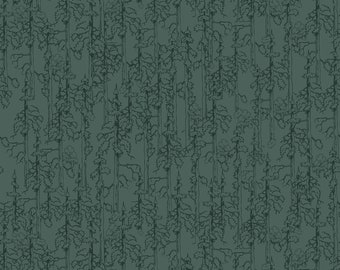 Forest Green Smokey Bear Fabric by the yard and half yard and other various lengths