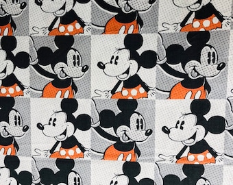 Disney Mickey & Minnie Mouse Fabric by the yard and half yard and other various lengths