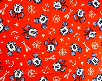 Disney Mickey & Minnie Aye Aye  Fabric by the yard and half yard and other various lengths