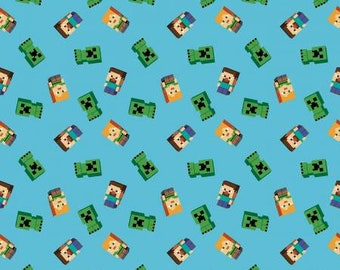 Mojang Minecraft Friends  Fabric by the yard, half yard and other various lengths