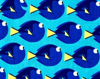 Pixar Finding Dory Just Keep Swimming Fabric By The Yard and half yard and other various lengths