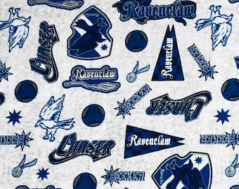 Ravenclaw Fabric, Harry Potter Fabric, Ravenclaw Pride Fabric by various lengths