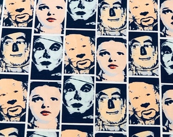Wizard of Oz Group Photo Stripes Fabric by the yard and other various lengths