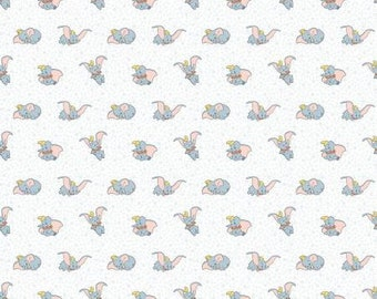 Disney Dumbo Many Faces of Dumbo Fabric By The Yard and half yard and other various lengths