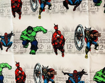 Marvel Comics Various Characters Fabric by the Yard (Single 1 Yard Cut)