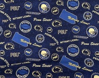 Penn State blue fabric by the yard and half yard and other various lengths