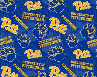 University of Pittsburgh Toss Blue fabric in various lengths