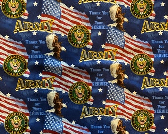 US Army Flags Blue Fabric in various lengths