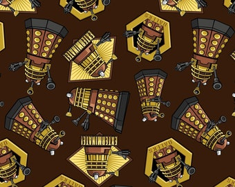 Doctor Who Exterminate Fabric By The Yard and half yard and other various lengths