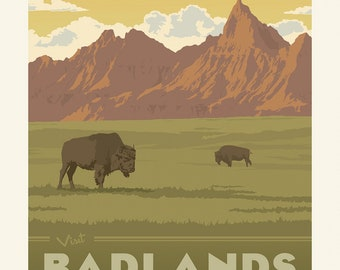 Badlands National Parks Panel 1 Yard Panel