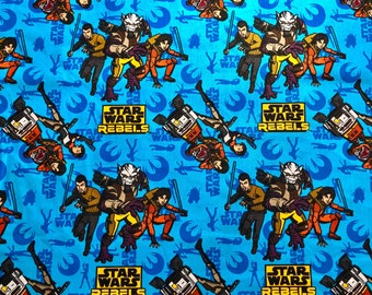 Star Wars Rebels Character Fabric Featuring Various Characters by the yard and half yard and other various lengths