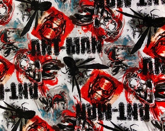 Marvel Universe Ant-Man Graffiti Fabric by the yard or half yard or other various lengths
