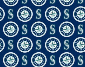 """Seattle Mariners MLB Fabric in various lengths by 59"""" width"""