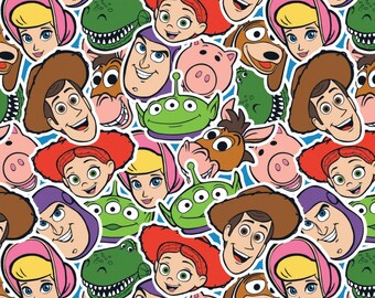 Disney Toy Story Toy Group Fabric by the yard and half yard and other various lengths