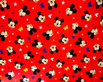 Disney Mickey Head Toss Fabric by the yard and half yard and other various lengths