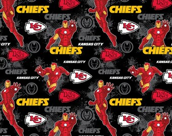 This Will Not Ship Until October 2020, Read Item Details On How To Order, Kansas City Chiefs and Iron Man fabric in various lengths