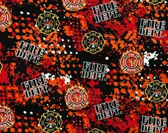 Fire Fighter Fabric Fire Department Fabric by various lengths